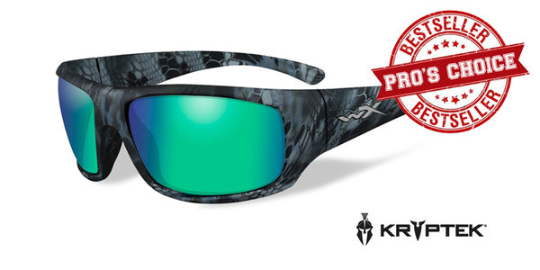 "Wiley X ""OMEGA Kryptek"", Polarized Emerald Mirror, Kryptek Neptune Frame"