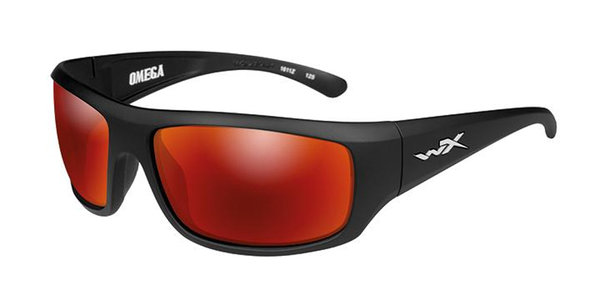 "Wiley X ""OMEGA"", Polarized Crimson Mirror, Black Frame"