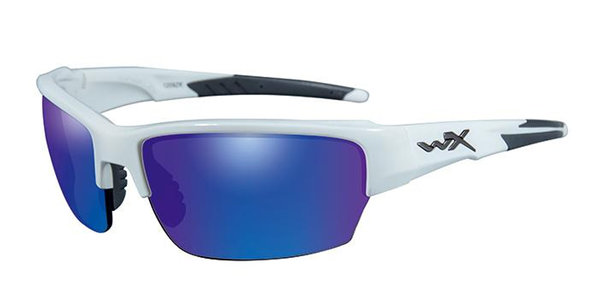 "Wiley X ""Saint"", Polarized Blue Mirror, White Frame"