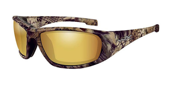 "Wiley X ""Boss"", Polarized Gold Mirror, Kryptek Highlander Frame"