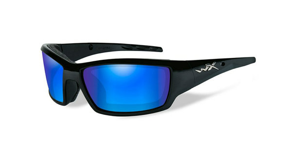 "Wiley X ""Tide"", Polarized Blue Mirror, Matte Black Frame"