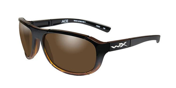 "Wiley X ""Ace"", Polarized Bronze Mirror, Gloss Tortoise Frame"