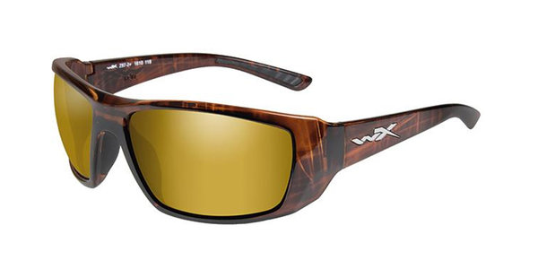 "Wiley X ""Kobe"", Polarized Gold Mirror, Hickory Brown Frame"