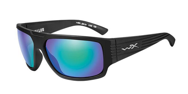 "Wiley X ""Vallus"", Polarized Emerald Mirror, Black Frame"